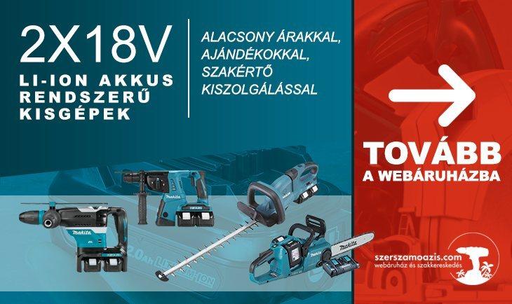 2x18V Li-ion akkus rendszer